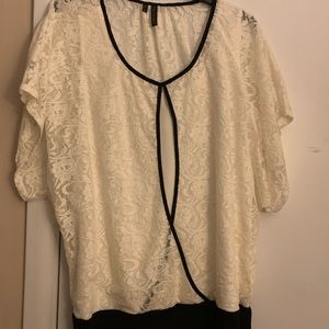Lace dress shirt